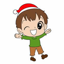 How to Draw a Christmas Boy for Kids