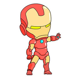 How to Draw a Cartoon Iron Man Step by Step