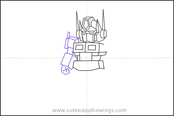 How to Draw a Cartoon Optimus Prime for Kids