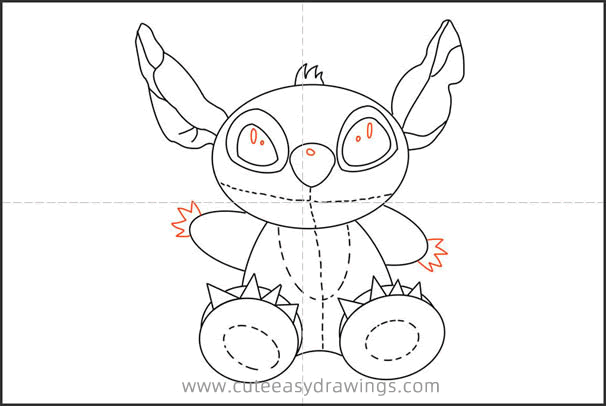 How to Draw a Stitch Doll for Kids