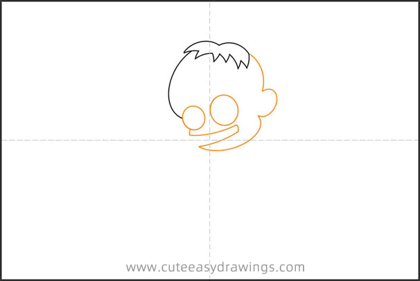 How to Draw a Little Boy Zombie for Kids