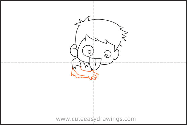 How to Draw a Male Zombie for Kids