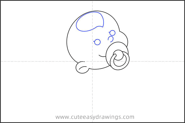 How to Draw a Chinese Baby with Pacifier for Kids