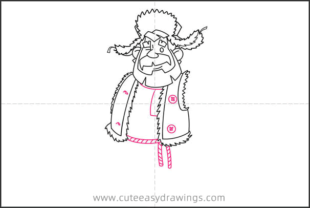 How to Draw a Russian Old Man for Kids