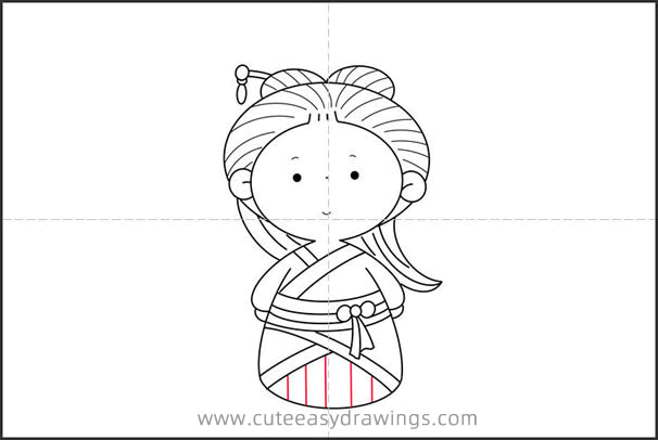 How to Draw a Chinese Tang Dynasty Girl for Kids