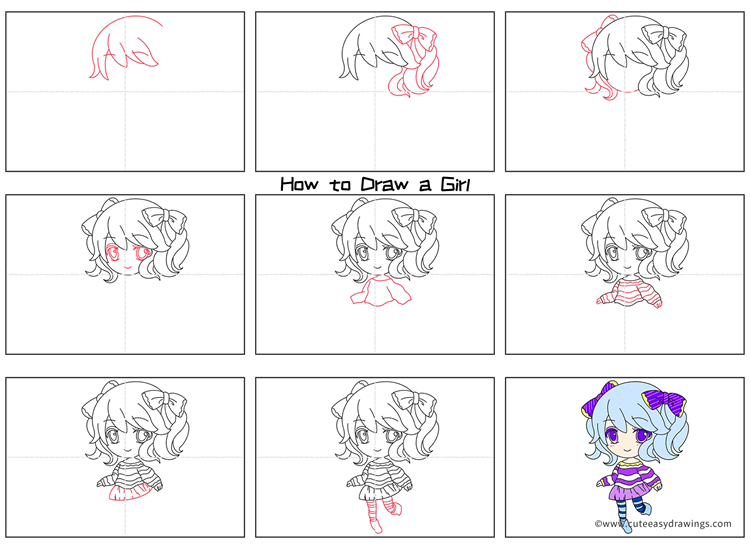 How to Draw an Anime Girl Step by Step