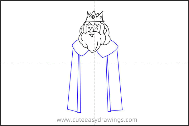 How to Draw an Old King Step by Step