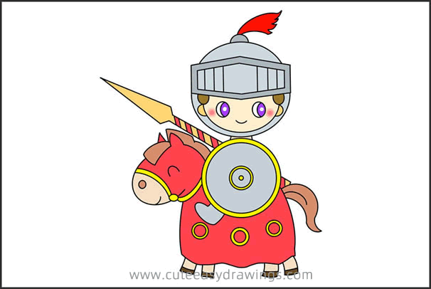 How to Draw a Knight Riding a Horse Step by Step