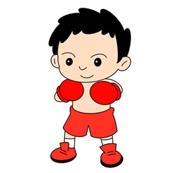 How to Draw a Boy Boxer Step by Step