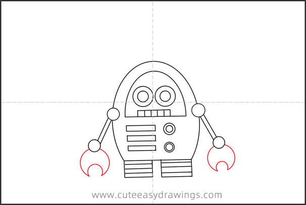 How to Draw a Clockwork Robot Step by Step