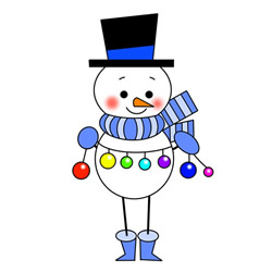 How to Draw a Snowman with Christmas Balls