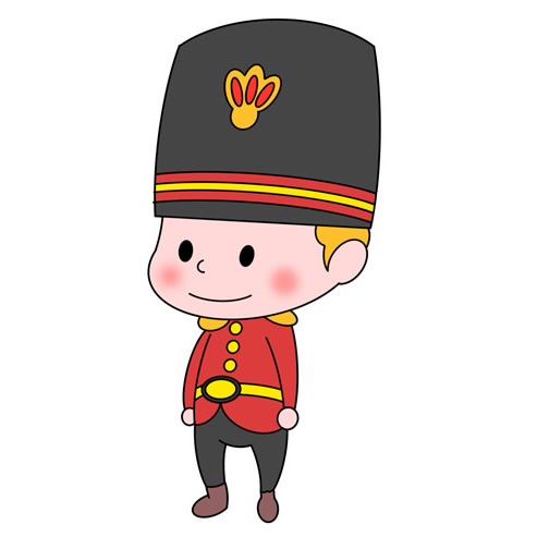 How to Draw a Royal Soldier Step by Step for Kids