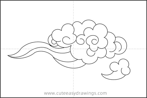 Beautiful Cloud Drawing Easy Step by Step for Kids