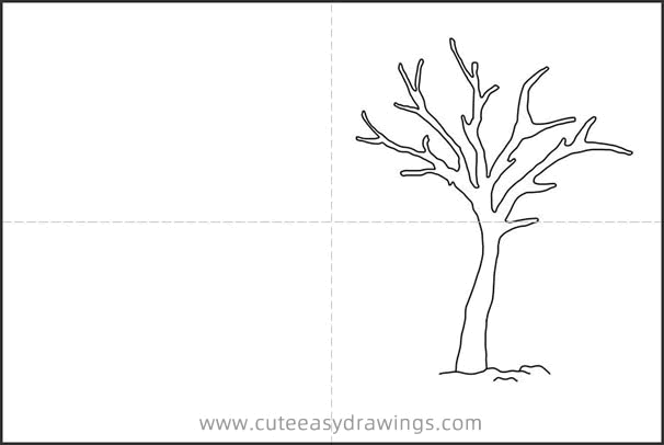 How to Draw a Winter Snow Scene Easy Step by Step for Kids