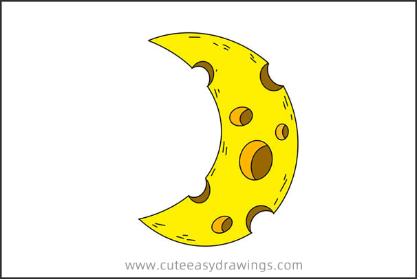 How to Draw a Cute Moon Easy Step by Step for Kids
