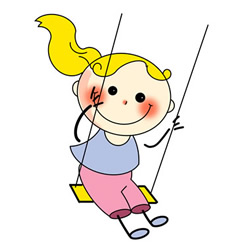 How to Draw a Little Girl on a Swing
