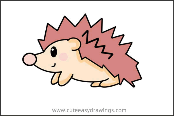 How to Draw a Beautiful Little Hedgehog Step by Step for Kids