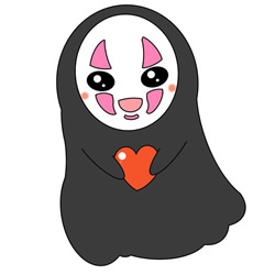 How to Draw No Face Man from Spirited Away