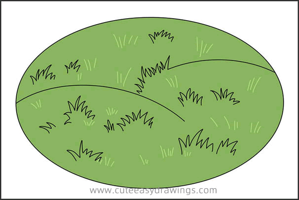 How to Draw Grassland Easy Step by Step for Kids