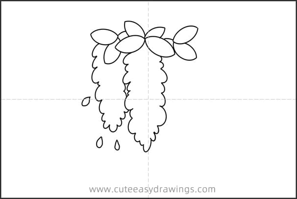How to Draw Wisteria Flowers Easy Step by Step for Kids