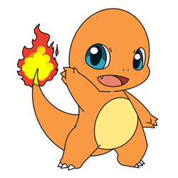 How to Draw Charmander from Pokémon