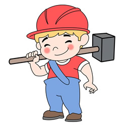 How to Draw a Worker Step by Step for Kids