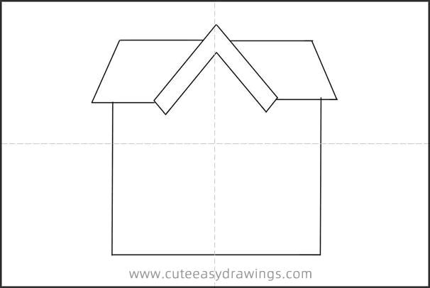 How to Draw a Little House for Kids