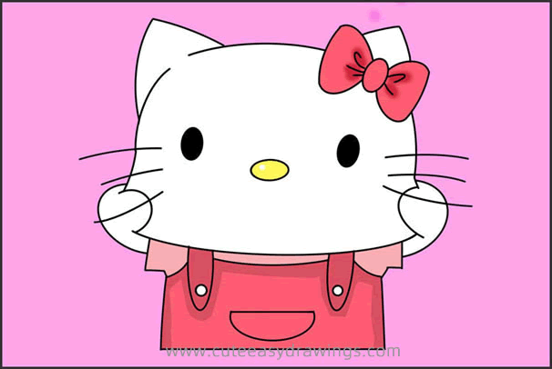How to Draw Hello Kitty Making a Face - Cute Easy Drawings