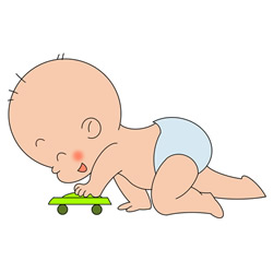 How to Draw a Baby Playing with a Toy Car