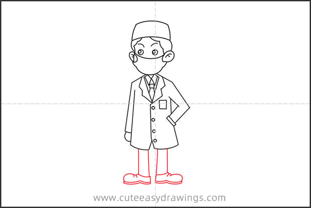 How to Draw a Doctor Wearing a Mask for Kids