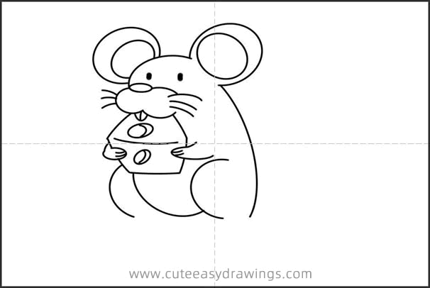 How to Draw a Bad Mouse That Stole Cheese Easy for Kids