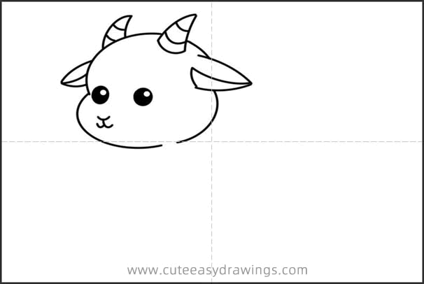 How to Draw a Beautiful Goat Easy Step by Step for Kids