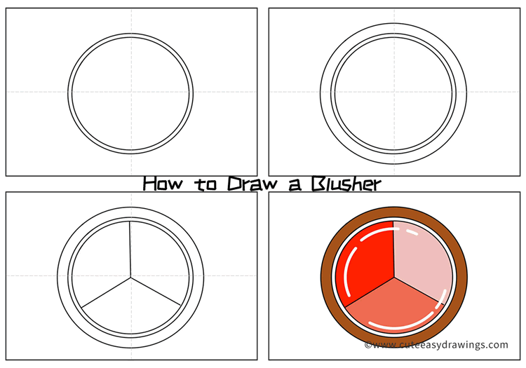 How to Draw a Blusher Easy Step by Step for Kids