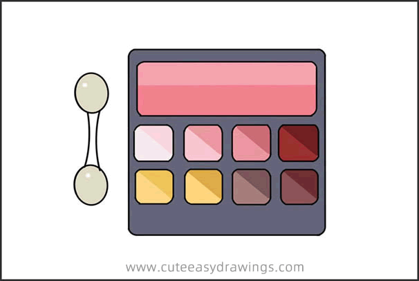 How to Draw Eyeshadow Set Easy Step by Step for Kids