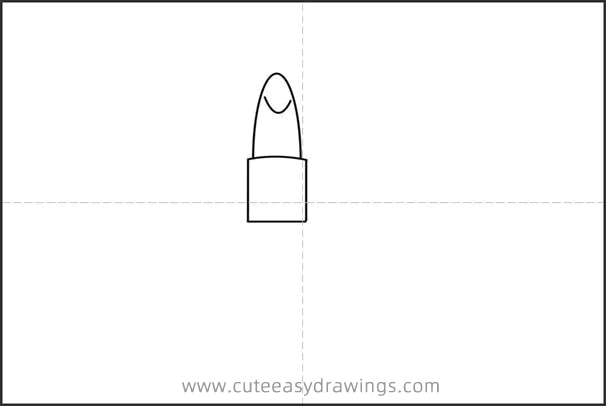 How to Draw a Lipstick Easy Step by Step for Kids