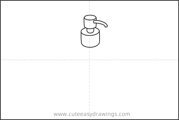 How to Draw a Bottle of Hand Sanitizer Easy Step by Step for Kids
