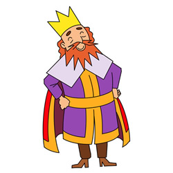 How to Draw a Bearded King Step by Step for Kids