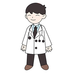 How to Draw a Young Doctor Step by Step for Kids