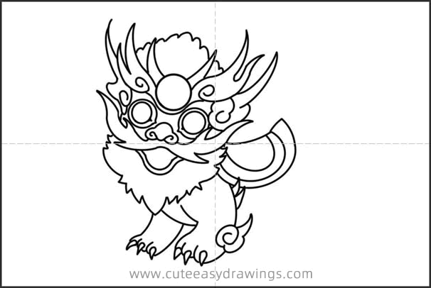 How to Draw a Nian in Chinese New Year Easy Step by Step for Kids