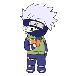 How to Draw Hatake Kakashi from Naruto Step by Step