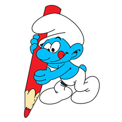 How to Draw a Smurf Who is Drawing Step by Step
