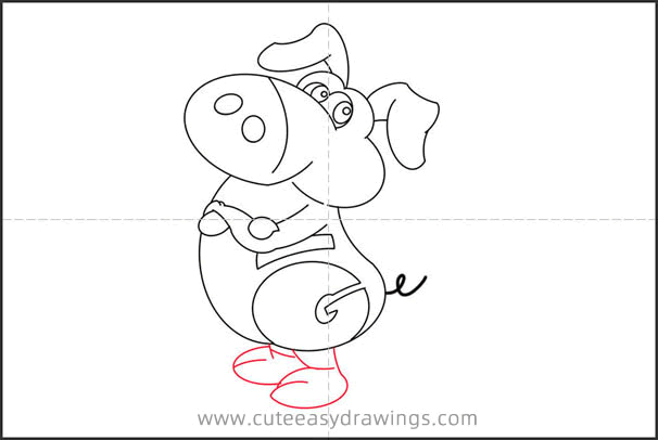 How to Draw a Cartoon Pig Step by Step for Kids
