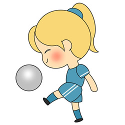 How to Draw a Girl Playing Football Step by Step