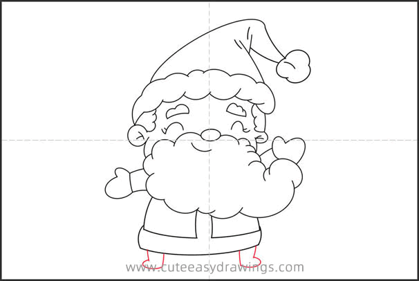 How to Draw Cartoon Santa Step by Step for Kids