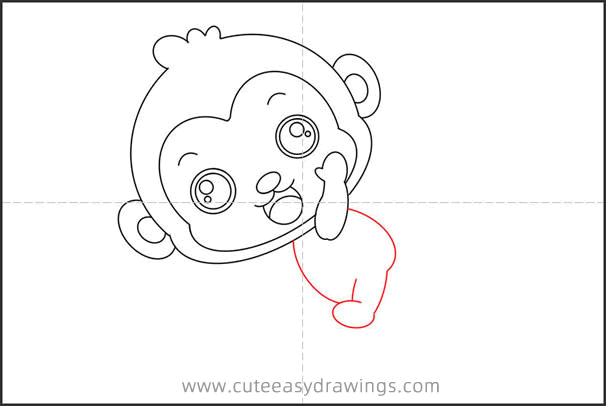 How to Draw a Monkey Sitting on a Rocket Step by Step