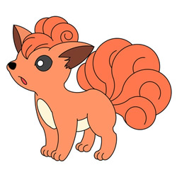 How to Draw Vulpix from Pokémon Step by Step