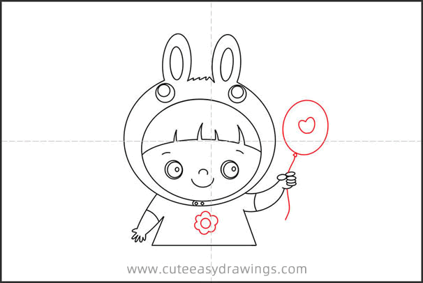 How to Draw a Little Girl Wearing Bunny Headgear