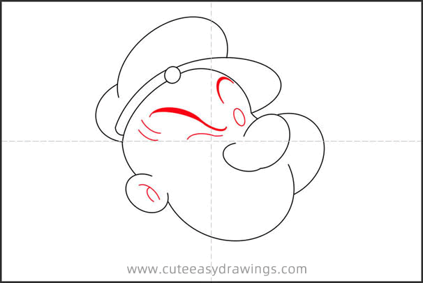 How to Draw a Popeye Avatar Step by Step for Kids