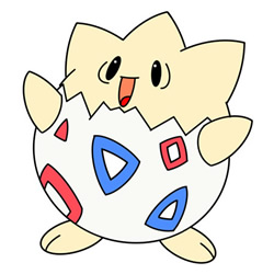 How to Draw Togepi Step by Step