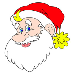 How to Draw Santa head Step by Step for Kids